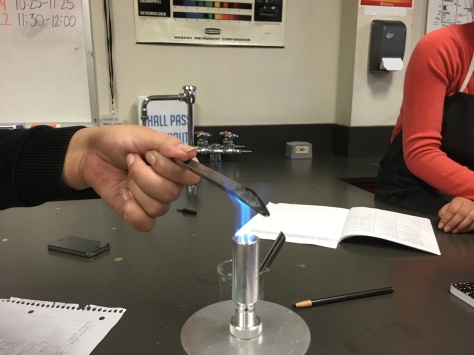 Conducting the flame test