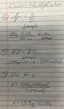 Calculating CuSO4 (example 1)