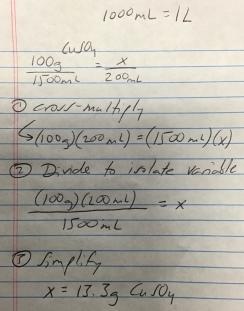 Calculating CuSO4 (example 2)